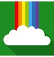 Rainbow and White Cloud vector image