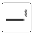 Cigarette icon with filter vector image