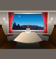 a compartment in a railway carriage vector image vector image