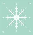 a snowflake icon vector image