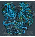 Abstract decorative neon floral elements vector image