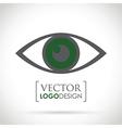 abstract eye icon green vector image vector image