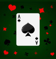 ace spades playing cards vector image