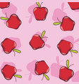 apples pattern background vector image vector image