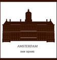 banner of amsterdam city vector image