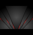 black abstract corporate background with red neon vector image vector image