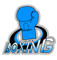 Blue boxing symbol vector image