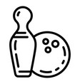 bowling ball icon outline style vector image vector image