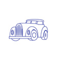 Cartoon Retro Car on white background vector image vector image