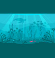 cartoon style underwater background vector image vector image