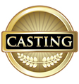 Casting Gold Label vector image vector image
