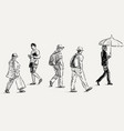 casual townspeople vector image vector image