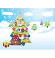 Christmas Tree Landscape2 vector image