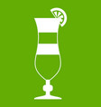 cocktail icon green vector image vector image