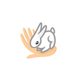 Contact zoo logo Animal care symbol Cute tiny vector image vector image