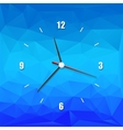 creative clock on the abstract background