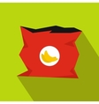 Crumpled bag of chips icon flat style vector image vector image