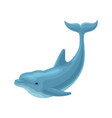 cute blue dolphin on a white vector image