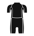 diving wetsuit icon simple style vector image