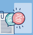 documents with chat bubbles vector image