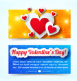 elegant greeting horizontal banners vector image vector image