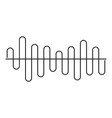 equalizer volume sound icon simple black style vector image vector image