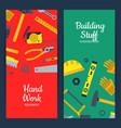 flat construction tools web banner vector image