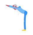 flat elderly man in sportsuit forward bend vector image vector image