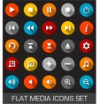 Flat media icons with shadow vector image vector image