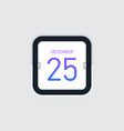 flip calendar icon flat design vector image vector image