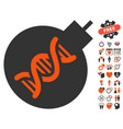 genetic weapon icon with love bonus vector image vector image