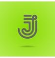 Graphic Line Font Logo Element Letter J vector image