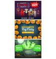 halloween party pumpkin ghosts and monsters vector image