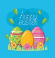 happy easter celebration vector image