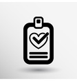 heart and tick icon health medical sign symbol vector image vector image