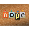 Hope Concept vector image vector image