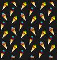 ice cream pattern seamless pattern vector image
