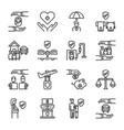 insurance icon set vector image