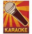 karaoke poster vector image