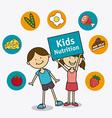 Kids food design vector image
