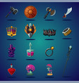 legendary asset set of magic items and resource vector image vector image
