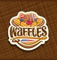 logo for belgian waffles vector image vector image