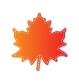 Maple leaf sign Orange applique isolated vector image vector image