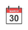 march 30 calendar icon holiday doctors day in vector image