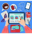 Online Mobile Shopping Concept vector image vector image