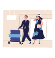 people passenger at airport depart arrival vector image