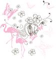 pink bird vector image vector image