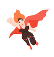 portrait of flying superwoman or superheroine vector image