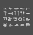 power tools for repair set icons silhouette on vector image vector image