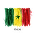 realistic watercolor painting flag of senegal vector image vector image